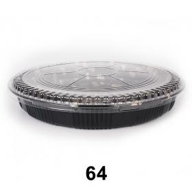 """64 圆形花纹塑料派对餐盘套装 14 3/4"""" X 1 7/8"""" - 120套/箱"""