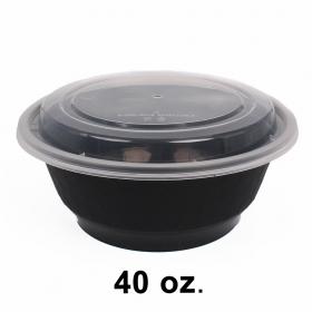 特级黑色塑料汤碗套装 40 oz. (740) - 150/箱