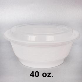 特级白色塑料汤碗套装 40 oz. (740) - 150/箱