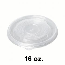 圆形透明塑料汤盖 16 oz. (520) - 500/箱