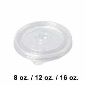 圆形透明塑料汤盖 8/12/16 oz. - 1000/箱