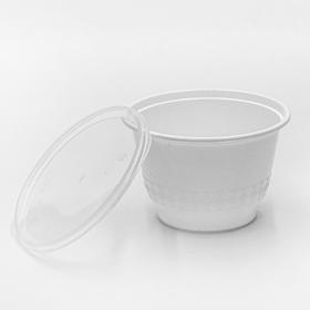 SR 12 oz. Round White Plastic Bowl Set (B12) - 240/Case