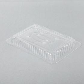 WS 1.5-2.25磅锡纸烤盘长方形透明塑料盖 - 500/箱
