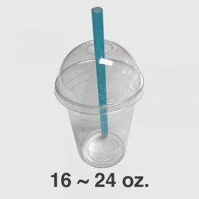 WS 透明塑料冷饮拱形杯盖 16-24 oz. - 1000/箱