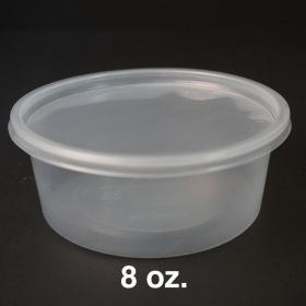 WS 圆形透明塑料熟食盒盖 8 oz. - 500/箱