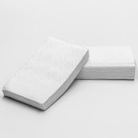 """白色双层堂吃纸巾16.5"""" X 14.5"""" - 2000/箱"""
