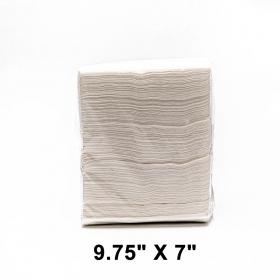 """HW 9 3/4"""" X 7"""" 白色短折纸巾 - 8000/箱"""