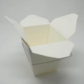 白色纸质外带饭盒16oz.  - 500/箱