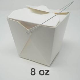 白色纸质外带饭盒8oz.  - 1000/箱