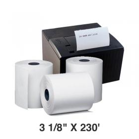 """热敏收据打印纸3 1/8"""" X 230' - 50卷/箱"""
