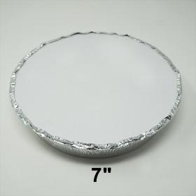 """圆形纸质锡纸盘盖 7"""" - 500/箱"""