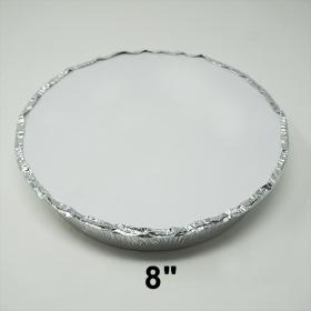 """圆形纸质锡纸盘盖 8"""" - 500/箱"""