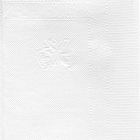 """HW 16"""" X 14.5"""" 高级白色双层堂吃纸巾 - 1800/箱"""