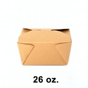 """牛皮纸质餐盒 #1 26 oz. 5"""" X 4.25"""" X 2.5"""" - 400/箱"""