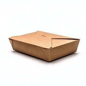 """牛皮纸质餐盒 #2 49 oz. 8.5"""" X 6.5"""" X 2"""" - 200/箱"""