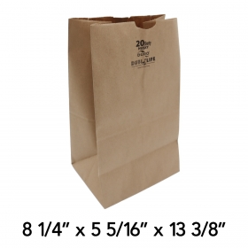 Duro Husky Shorty 20磅 加厚牛皮纸袋 - 400/箱