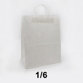白色带提手牛皮纸袋 - 250/箱