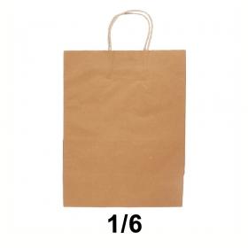 棕色带提手牛皮纸袋 - 250/箱