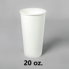 White Paper Coffee Cups 20 oz. - 500/Case