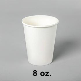白色咖啡纸杯 8 oz. - 1000/箱