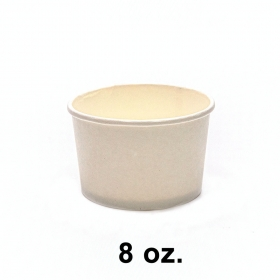 圆形白色纸质汤盒底 8 oz. (非套装) - 500/箱