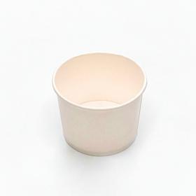 圆形白色纸质汤盒底 12 oz. (非套装) - 500/箱
