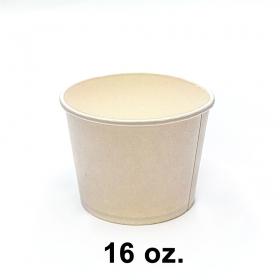 圆形白色纸质汤盒底 16 oz. (520) (非套装) - 500/箱