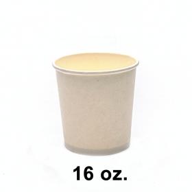 圆形白色纸质汤盒底 16 oz. (非套装) - 500/箱