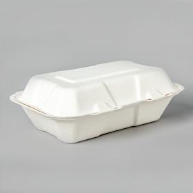 """AHD 205 长方形白色环保餐盒 9"""" X 6"""" - 200/箱"""