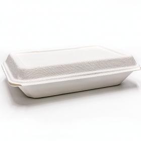 """AHD 207 长方形白色环保餐盒 9"""" X 6"""" - 150/箱"""