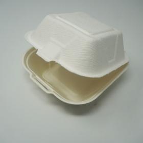 """AHD 正方形白色环保餐盒6"""" X 6"""" X 3"""" - 500/箱"""