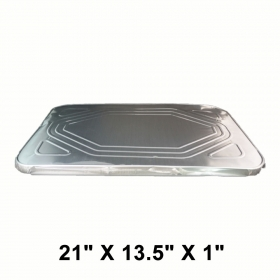 """Full Size 长方形锡纸盘盖 21"""" X 13.5"""" X 1"""" - 50/箱"""