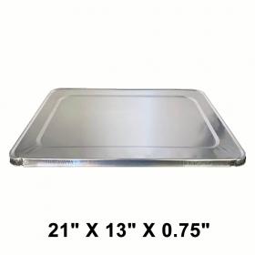 """WS Full Size 21"""" X 13"""" X 0.75"""" 长方形锡纸盘盖 - 40/箱"""