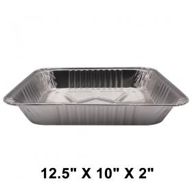 """WS Half Size 12.5"""" X 10"""" X 2"""" 加厚长方形中型锡纸盘 (非套装) - 100/箱"""
