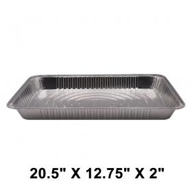 "WS Full Size 20.5"" X 12.75"" X 2"" 长方形中型锡纸盘 (非套装) - 40/箱"