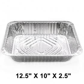 "WS Half Size 12.5"" X 10"" X 2.5"" 加厚长方形深型锡纸盘 (非套装) - 100/箱"