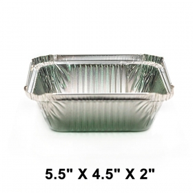 Meal Prep Pack of 56 Perfect for Reheating Roasting Environmentally Friendly Heavy Duty Tin Foil Pans DecorRack Round 7 Inch Aluminum Pans with Flat Board Lid Baking to-Go Containers