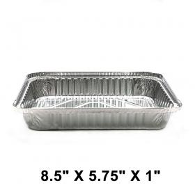 "WS 768 加厚长方形1.5磅容量浅锡纸盘8.5"" X 5.75"" X 1"" (非套装) - 500/箱"