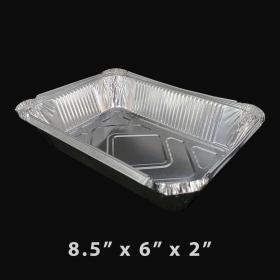 "WS 788 特厚长方形2.25磅容量锡纸盘 8.5"" X 6"" X 2"" (非套装) - 500/箱"