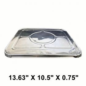 """WS Half Size 13.63"""" X 10.5"""" X 0.75"""" 长方形锡纸盘盖 - 100/箱"""