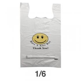 1/6 笑脸白色塑料袋 - 170/箱