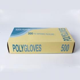 WS 均码透明Poly一次性手套 500个/盒 - 10盒/箱