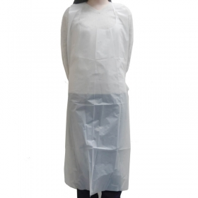 "WS 28"" X 46"" 白色Poly围裙 - 25/盒"