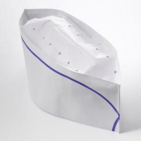 WS 白色蓝边厨师纸帽 - 1000/箱