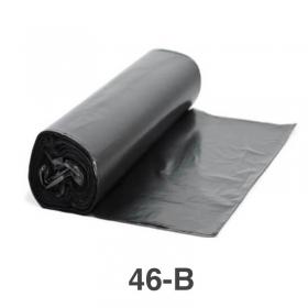 """黑色塑料垃圾袋 23"""" X 46"""" #46 - 100/箱"""