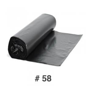 """黑色垃圾袋51"""" X 22"""" #58 - 34/箱"""
