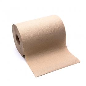 """加厚棕色擦手卷纸 8"""" - 12卷/箱"""