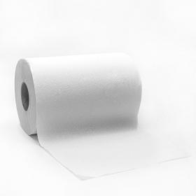 """加厚白色擦手卷纸 8"""" - 12卷/箱"""