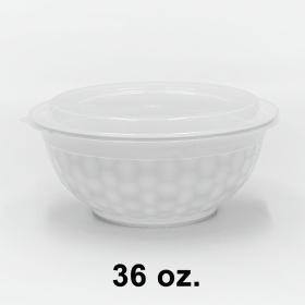 SD 36 oz. 圆形白色塑料碗套装 (036) - 150套/箱