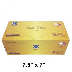 """三层盒装抽纸 7.5"""" X 7"""", 360张/盒 - 24盒/箱"""